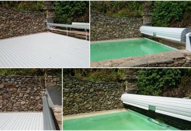 volets de piscine sur mesure alimentation solaire et fixation murale coverline. Black Bedroom Furniture Sets. Home Design Ideas