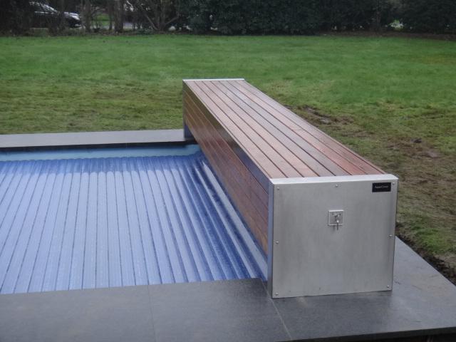 Couvertures piscine automatiques rideau de piscine lectrique - Volet roulant pour piscine ...